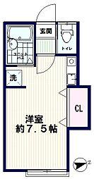 AZUMI-SOU(アズミソウ)[203号室]の間取り