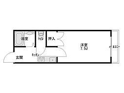 センチュリーハウス天神[2階]の間取り