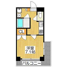 SHICATA DOUZE BLDG[203号室]の間取り