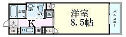 ファーストフィオーレ梅田イースト 5階1Kの間取り