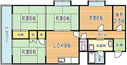 北方スカイマンション[105号室]の間取り