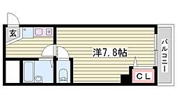 兵庫県明石市西新町2丁目の賃貸マンションの間取り