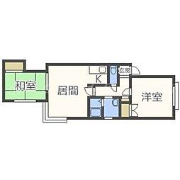 北海道札幌市東区北二十三条東21丁目の賃貸アパートの間取り