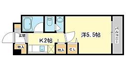 兵庫県姫路市田寺1丁目の賃貸マンションの間取り