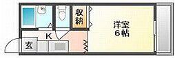 岡山県岡山市北区宿本町の賃貸アパートの間取り