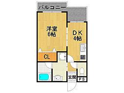 サウスサイド武庫之荘[2階]の間取り