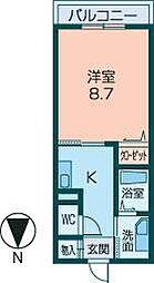 フィオーレ八木[303号室]の間取り