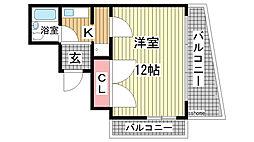 六甲グランドライオンズ Ⅱ[5階]の間取り