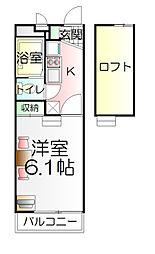 東京都足立区神明2丁目の賃貸マンションの間取り