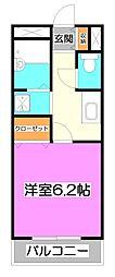 アンプルール フェール TU[1階]の間取り