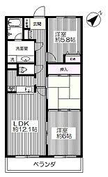東京都府中市天神町3丁目の賃貸マンションの間取り