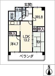 レジデンスMIZUO21[3階]の間取り