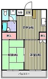 エミナンナガイ[2階]の間取り