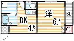 木村マンション[303号室]の間取り