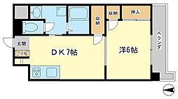 コーポラス神子岡[5階]の間取り
