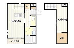 広島電鉄宮島線 草津駅 徒歩7分の賃貸アパート 1階ワンルームの間取り