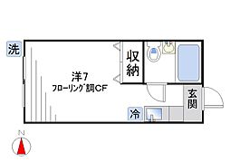 ハイツ秋山[102号室]の間取り