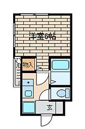 ウィン相南[2階]の間取り