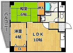 日野山第五ビル[8階]の間取り