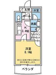 ベル・フラワー[1階]の間取り