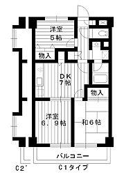 東京都練馬区春日町の賃貸マンションの間取り