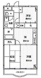 東京都三鷹市下連雀2丁目の賃貸マンションの間取り