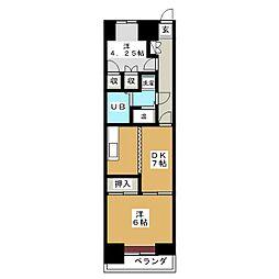 ライオンズマンション本町第2 804号室[8階]の間取り