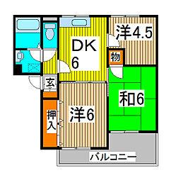 ヴァンベールクレスト[3階]の間取り