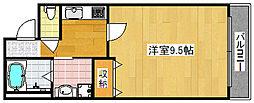 Osaka Metro四つ橋線 北加賀屋駅 徒歩10分の賃貸マンション 3階1Kの間取り