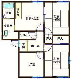 ラフォーレ百頭 202号室[2階]の間取り
