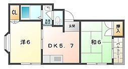 メゾン・ティグレ[3階]の間取り