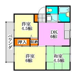 千葉県船橋市習志野4丁目の賃貸アパートの間取り