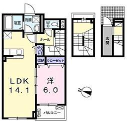 クラール・Y 3階1LDKの間取り