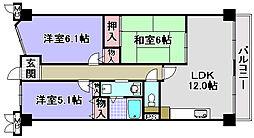 ルノン和泉中央[1003号室]の間取り