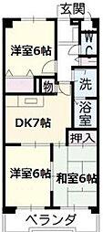 愛知県名古屋市緑区滝ノ水1の賃貸マンションの間取り