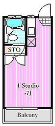 ロゼ6・7[2階]の間取り