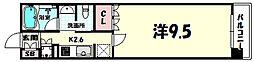 リーガル神戸三宮フラワーロード[9階]の間取り