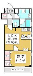 クールコクテル 2階1LDKの間取り