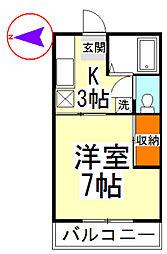 池田コーポII[206号室]の間取り