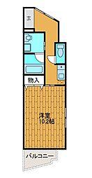 サンフラット3[4階]の間取り