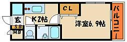 パラドール魚住Ⅱ[2階]の間取り