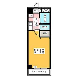 A・City日の出[2階]の間取り