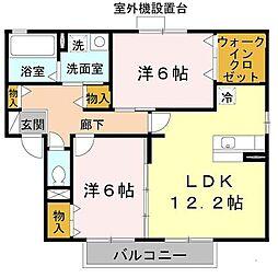セドール富田林[1階]の間取り