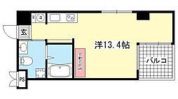 兵庫県神戸市東灘区魚崎中町4丁目の賃貸マンションの間取り