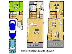 大阪市生野区巽東1丁目 中古一戸建て 4LDKの間取り