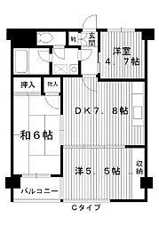 東京都練馬区早宮の賃貸マンションの間取り