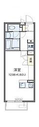 小田急小田原線 海老名駅 バス19分 新道下車 徒歩3分の賃貸アパート 2階ワンルームの間取り