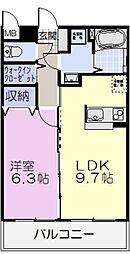 マエストロ斎宮[102号室]の間取り