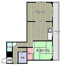 エクセレント上野 bt[305kk号室]の間取り