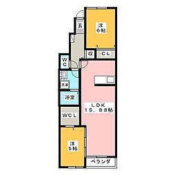 クオーレ文化町[1階]の間取り